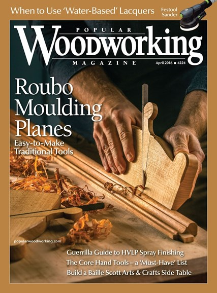 Popular Woodworking Cover - 3/1/2016