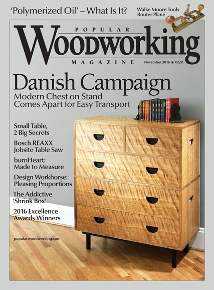 Popular Woodworking Cover - 11/1/2016