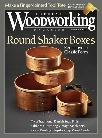 Popular Woodworking Cover - 9/1/2016