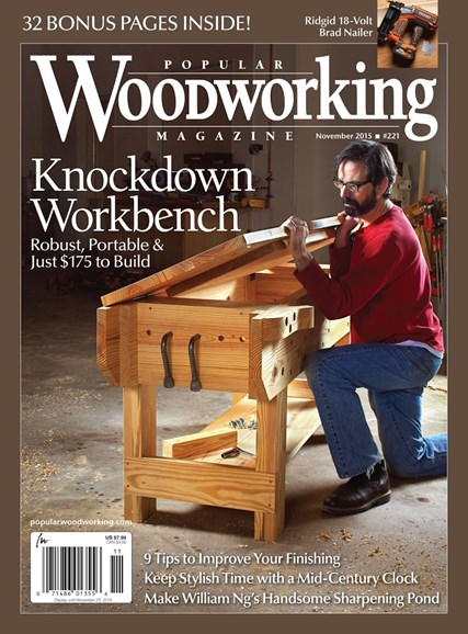 Popular Woodworking Cover - 11/1/2015