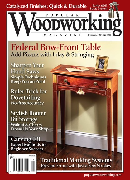 Popular Woodworking Cover - 12/1/2014