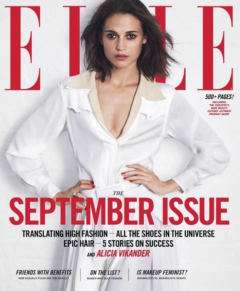 ELLE Cover - 9/1/2017