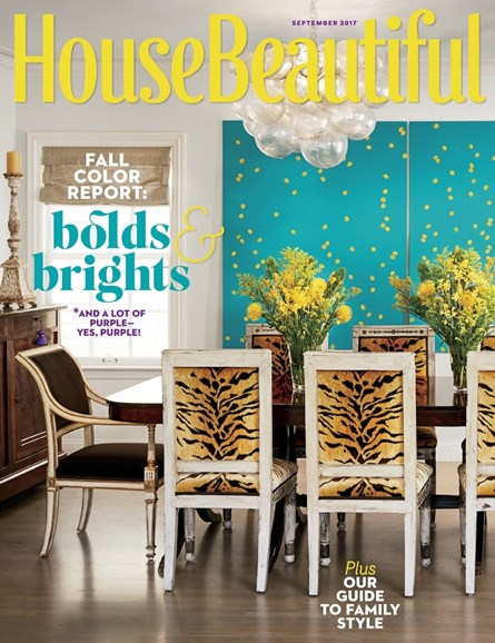 House Beautiful Cover - 9/1/2017
