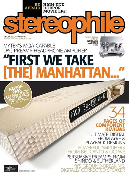 Stereophile Cover - 9/1/2017