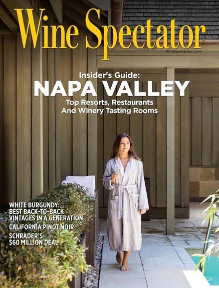 Wine Spectator Cover - 8/30/2017