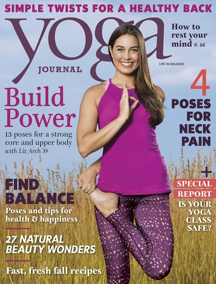 Yoga Journal Cover - 11/1/2016