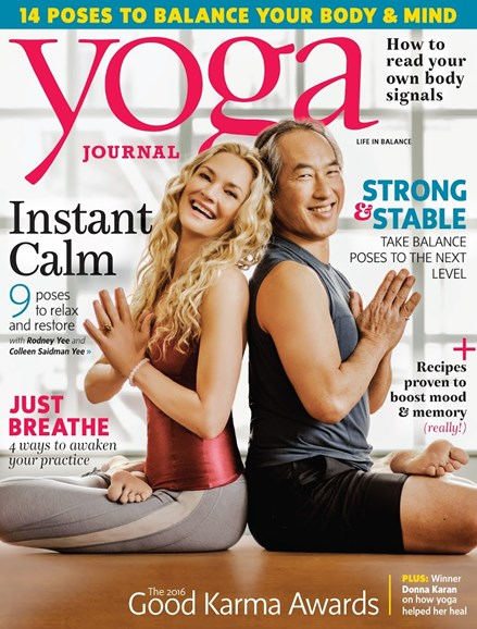 Yoga Journal Cover - 9/1/2016