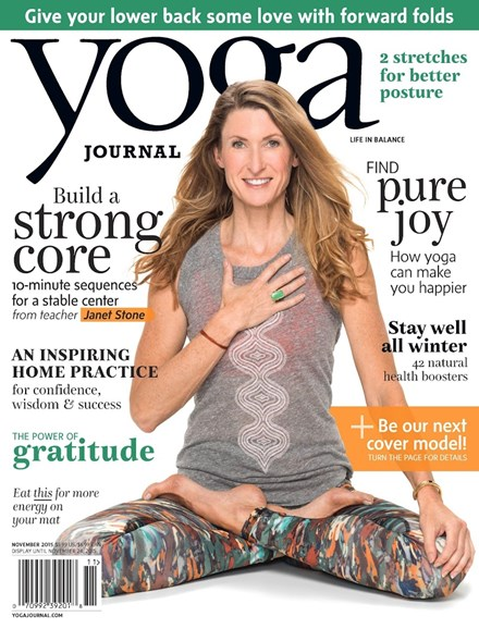 Yoga Journal Cover - 11/1/2015