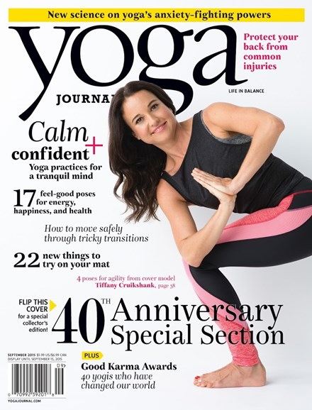 Yoga Journal Cover - 9/1/2015