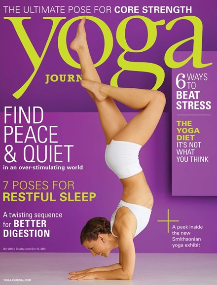 Yoga Journal Cover - 10/1/2013