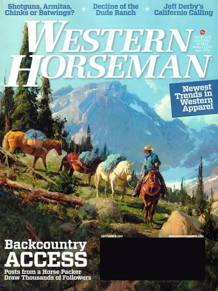 Western Horseman Cover - 9/1/2017