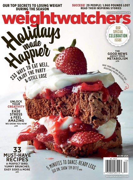 Weight Watchers Magazine Cover - 11/1/2016