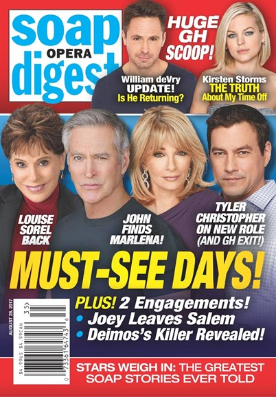 Soap Opera Digest Cover - 8/28/2017