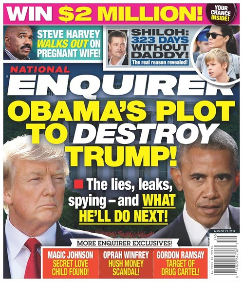 National Enquirer Cover - 8/21/2017