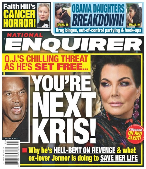 National Enquirer Cover - 8/28/2017