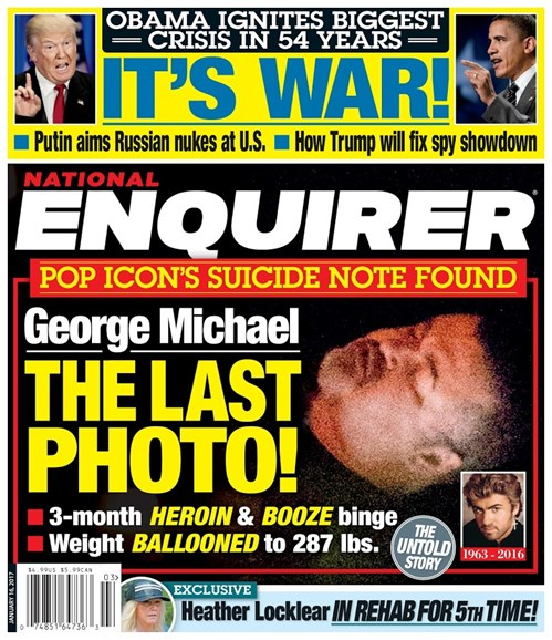 National Enquirer Cover - 1/16/2017