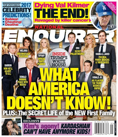National Enquirer Cover - 1/2/2017