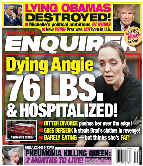 National Enquirer Cover - 1/9/2017