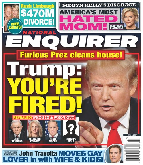 National Enquirer Cover - 7/3/2017