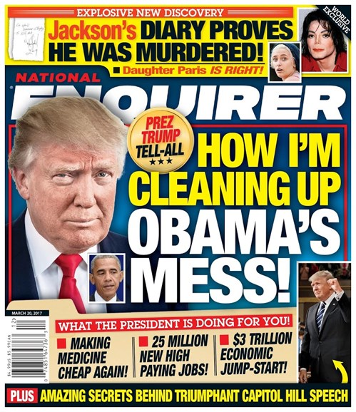 National Enquirer Cover - 3/20/2017