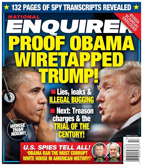 National Enquirer Cover - 3/27/2017