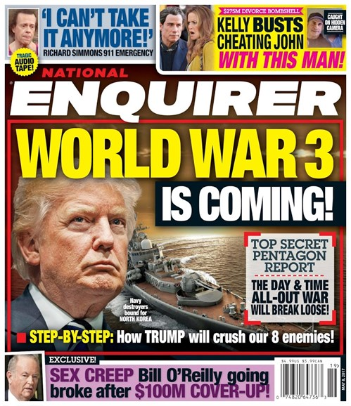 National Enquirer Cover - 5/8/2017
