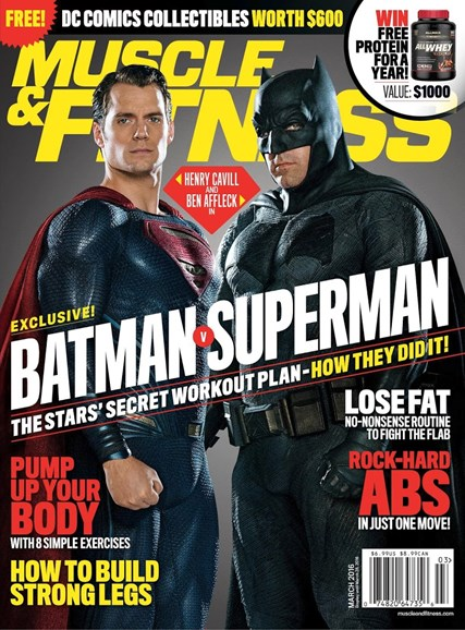 Muscle & Fitness Cover - 3/1/2016