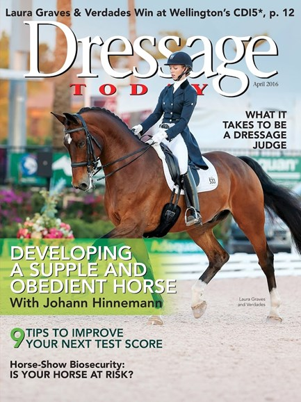 Dressage Today Cover - 4/1/2016