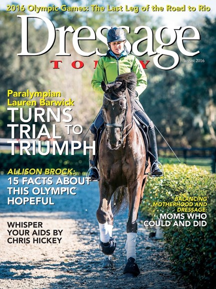Dressage Today Cover - 8/1/2016