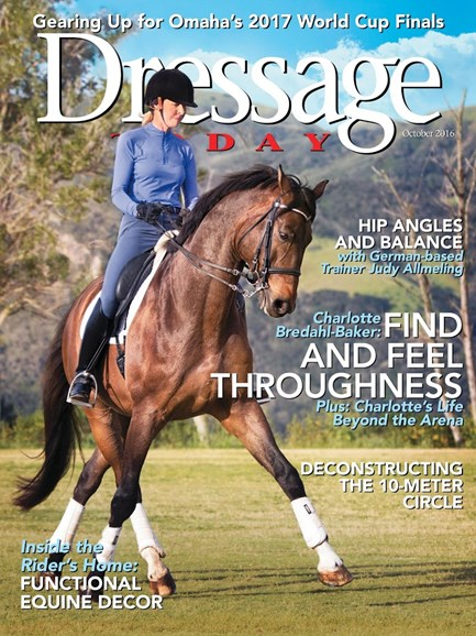 Dressage Today Cover - 10/1/2016