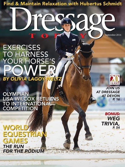 Dressage Today Cover - 9/1/2014