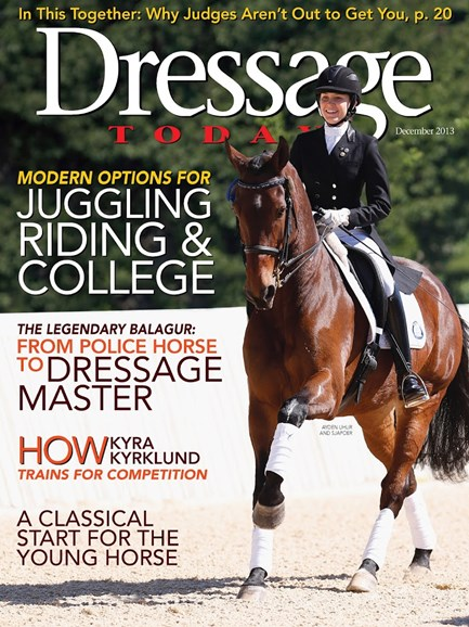 Dressage Today Cover - 12/1/2013