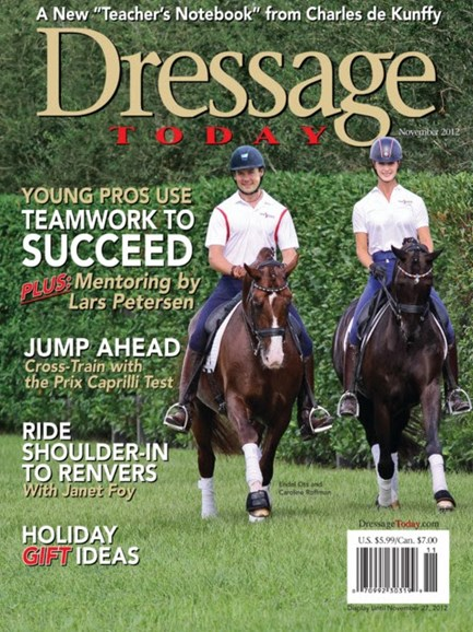 Dressage Today Cover - 11/1/2012