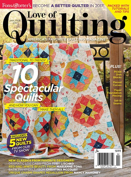 Fons & Porter's Love of Quilting Cover - 1/1/2017