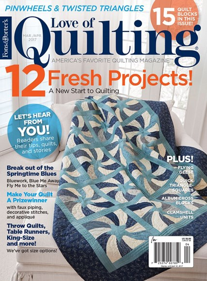 Fons & Porter's Love of Quilting Cover - 3/1/2017