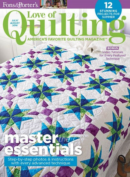 Fons & Porter's Love of Quilting Cover - 7/1/2016