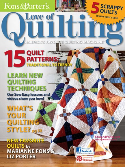 Fons & Porter's Love of Quilting Cover - 1/1/2013
