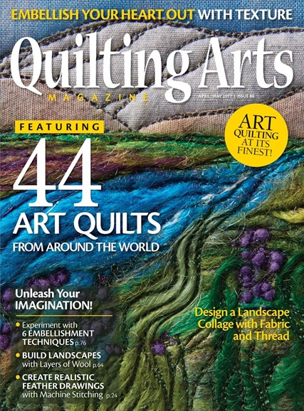 Quilting Arts Cover - 4/1/2017
