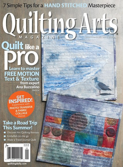 Quilting Arts Cover - 8/1/2017