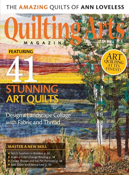 Quilting Arts Cover - 2/1/2017