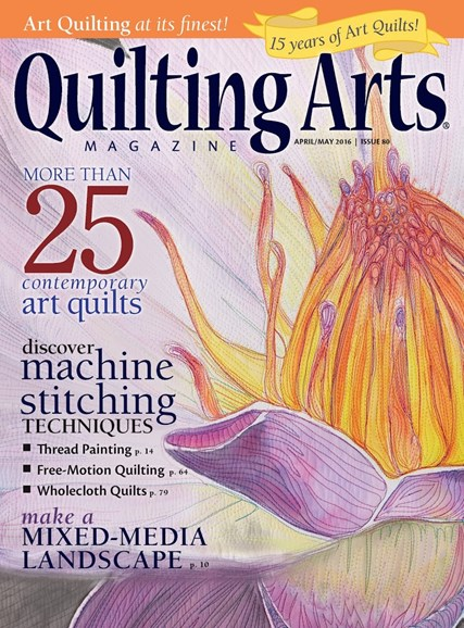 Quilting Arts Cover - 4/1/2016