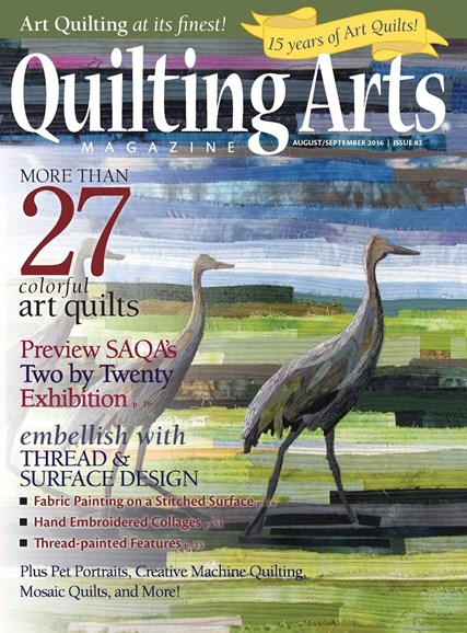 Quilting Arts Cover - 8/1/2016