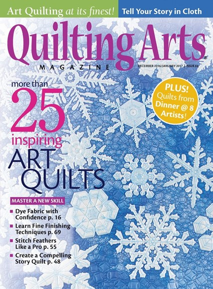 Quilting Arts Cover - 12/1/2016