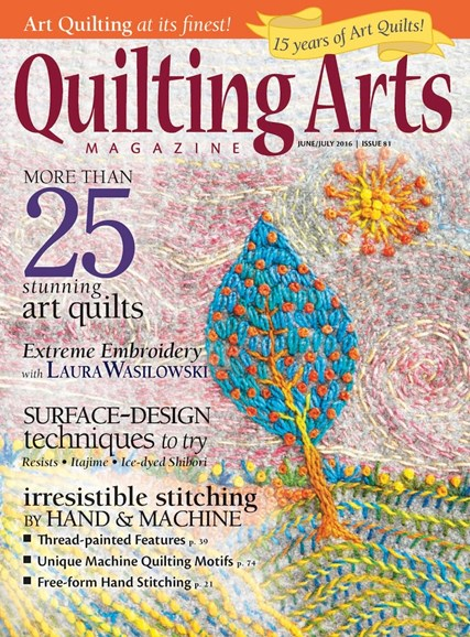 Quilting Arts Cover - 6/1/2016