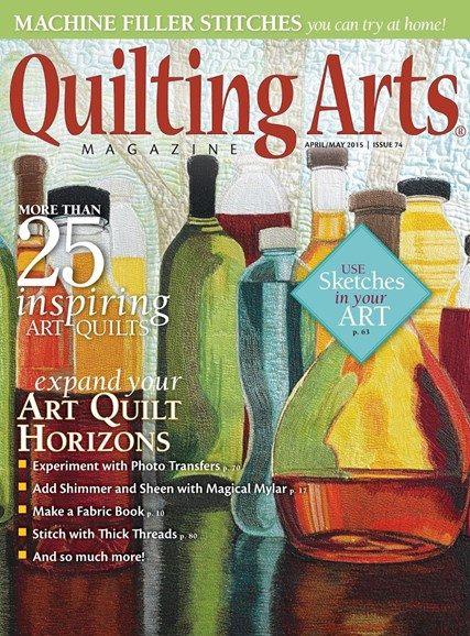 Quilting Arts Cover - 4/1/2015
