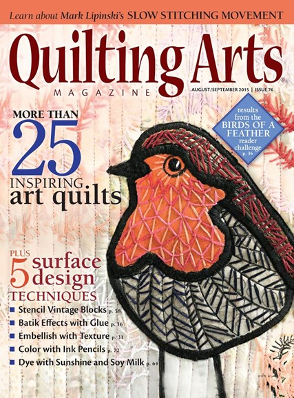 Quilting Arts Cover - 8/1/2015
