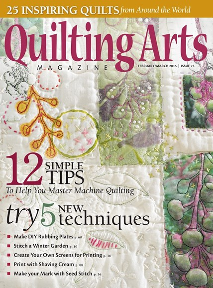 Quilting Arts Cover - 2/1/2015