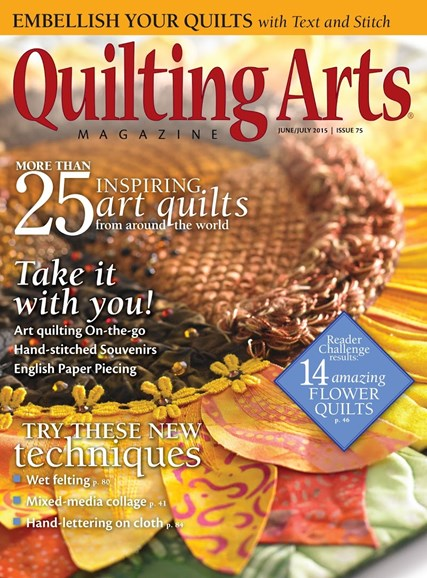 Quilting Arts Cover - 6/1/2015