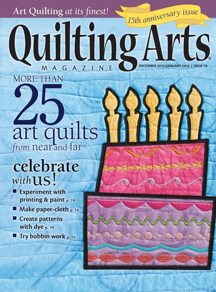 Quilting Arts Cover - 12/1/2015