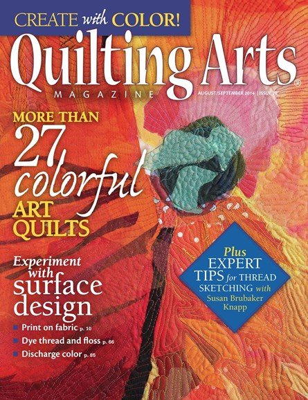 Quilting Arts Cover - 8/1/2014